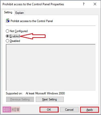 Disable Control Panel in Windows 10-6