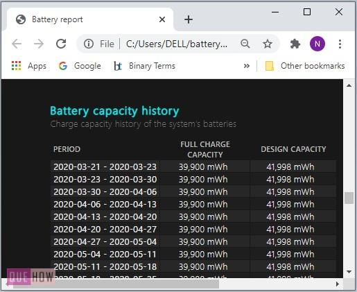 Generate a Battery Report in Windows 10-10