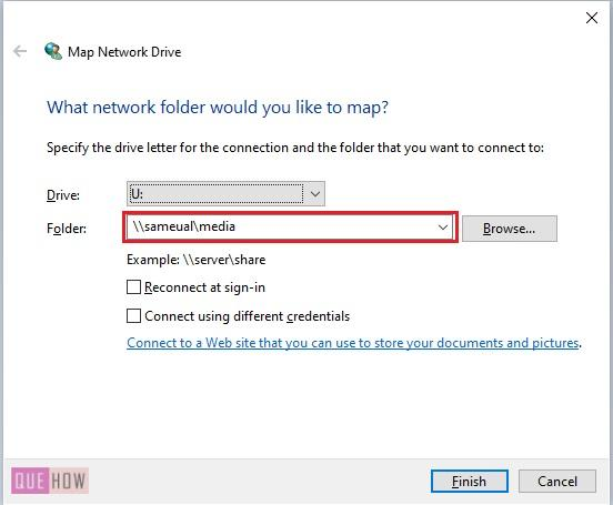 Map a Network Drive in Windows 10 -5