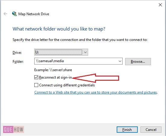 Map a Network Drive in Windows 10 -6