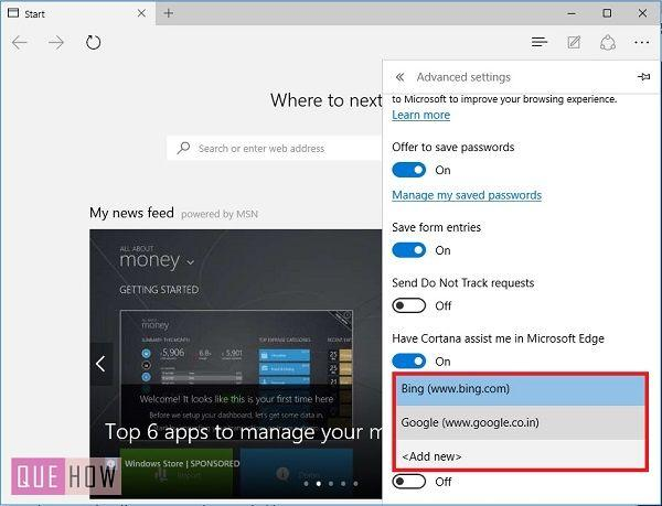 how to change your default search enigne