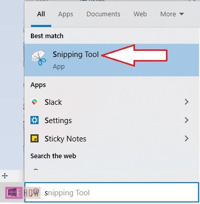 take a screenshot in windows 10-6