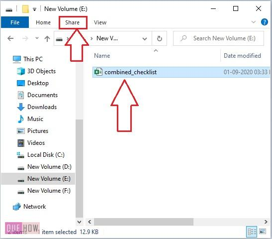 use share tab in Windows 10-1