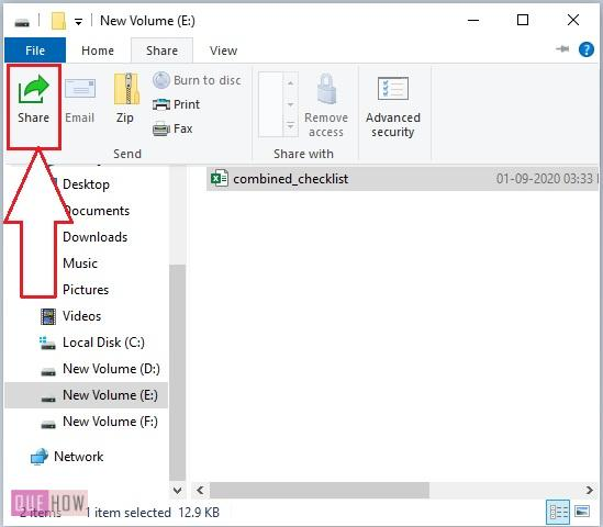 use share tab in Windows 10-2