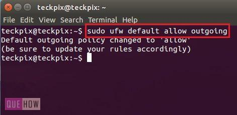 """Step 2: If your firewall is active then its ok and if not, then you can enable it by using """"sudo ufw enable""""."""