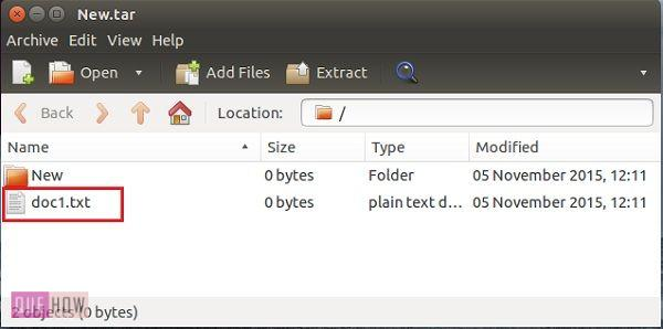 How to Use 'tar' command to Create Archives in Ubuntu 14 04