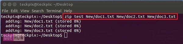 How to create a Zip file using terminal in Ubuntu 14 04 - QueHow