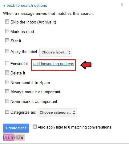How to automatically forward your mails using filter in gmail