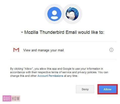 how to delete gmail account from thunderbird