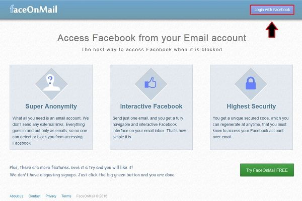 how to delete facebook emails on login