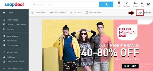 how-to-change-snapdeal-password