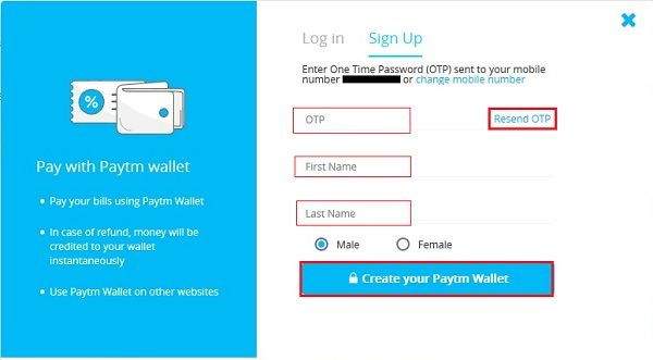 How to create a Paytm account? (with Pictures) - QueHow