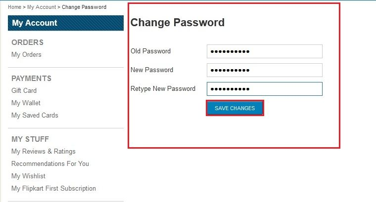 how-to-change-password-in-flipkart
