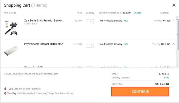 how-to-remove-items-from-snapdeal-shopping-cart