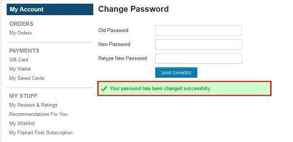 how-to-change-password-in-flipkart