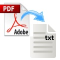How to convert PDF to Text file