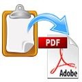 How to convert notepad to PDF