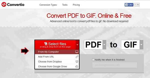 How to convert a PDF file to a GIF image