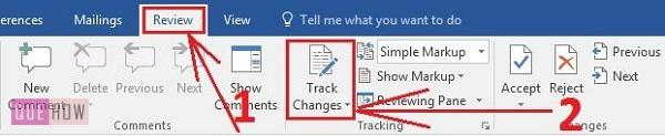 how-to-track-changes-in- MS-word-2016-step-1