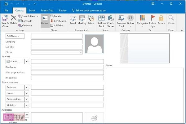 How-to-add-contacts-in-Outlook-2016-steps-2-3