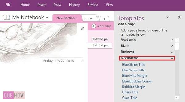 How to create add and customize a template in onenote for Onenote section template