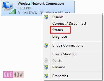 How to check IP address in Windows 7 method 4 step 2