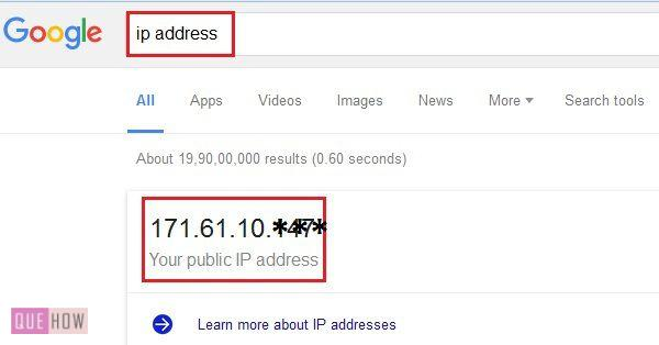 How to check IP address in Windows 7 step 1