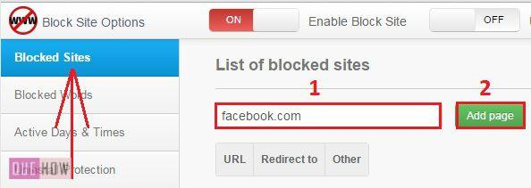 block website chrome