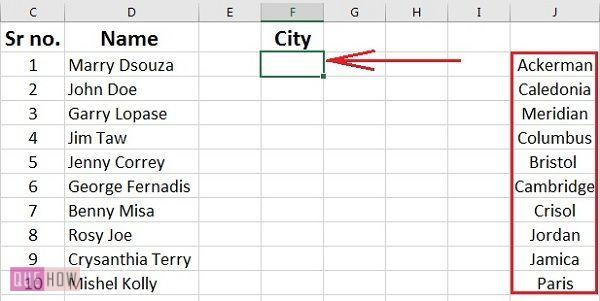 how-to-create-a-drop-down-list-in-ms-excel-2016-step-1