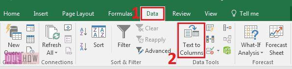 how-to-split-text-of-cells-in-ms-excel-2016-step-2