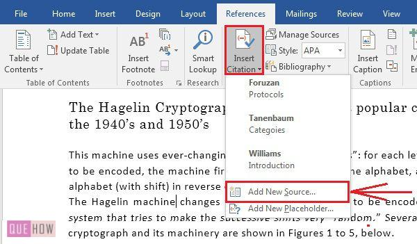How-to-create-and-insert-citaion-in-MS-Word-2016-step-2