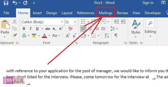 how-to-use-mail-merge-in-ms-word-2016-step-1