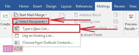 how-to-use-mail-merge-in-ms-word-2016-step-2