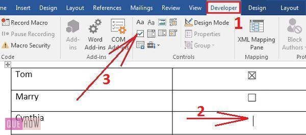 how-to-insert-clickable-checkbox-in-ms-word-2016-step-05
