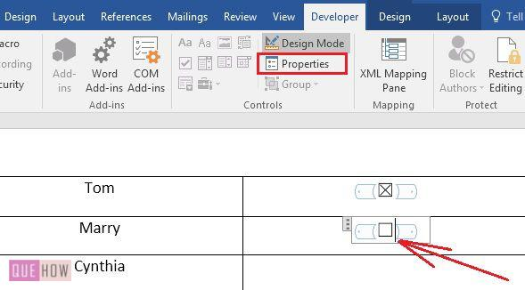 How to Insert Clickable Checkbox in MS Word 2016? (with