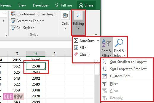 how-to-sort-data-in-ms-excel-2016-step-1