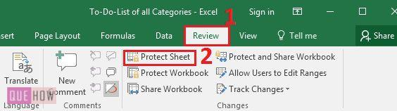 How to Protect Worksheet and Cells in MS Excel 2016 with – Protect Worksheet