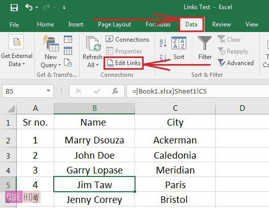 how-to-break-links-in-ms-excel-2016-step-2