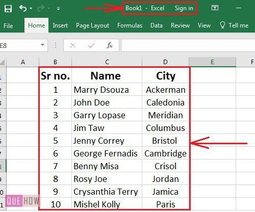 how-to-create-links-in-ms-excel-2016-step-1