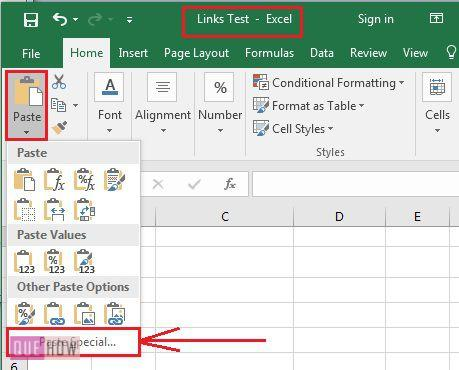 how-to-create-links-in-ms-excel-2016-step-2