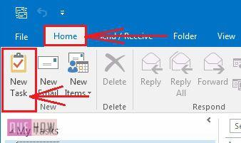 how-to-create-or-assign-a-new-task-in-ms-outlook-2016-step-2
