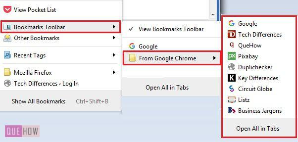 how to put bookmarks on toolbar chrome