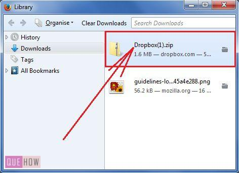 How to download files/folders from Dropbox? (with Pictures
