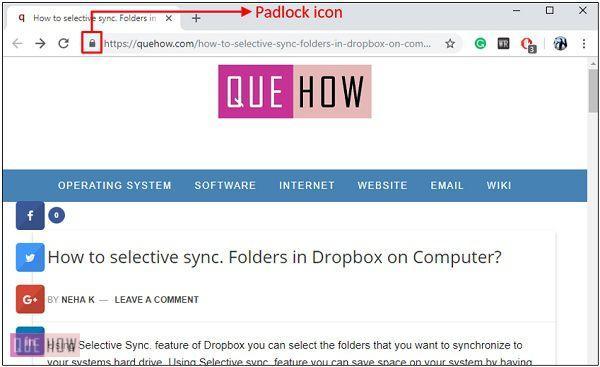 webpage-padlock
