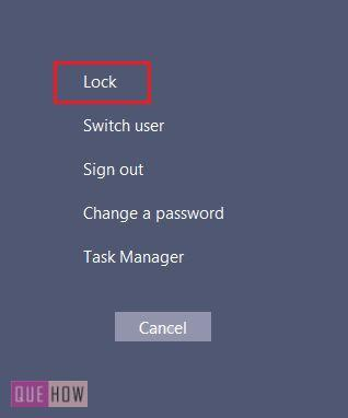 click on lock