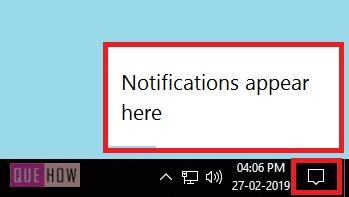 action center in windows 10