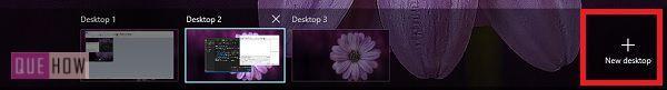 add new desktop button