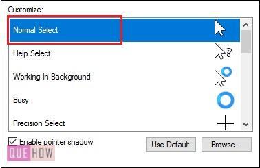 customize a pointer