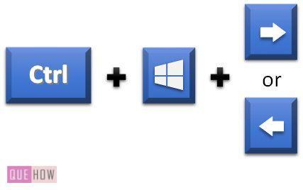 shortcut to switch desktops