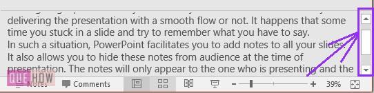 How to add notes in PowerPoint 3